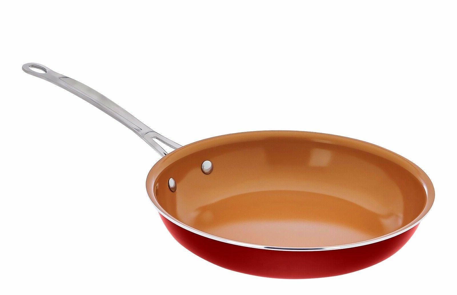 titanium and ceramic 10 copper nonstick fry