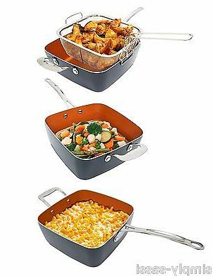 Gotham Ceramic Nonstick 9.5-inch Fry Pan Set with Lid