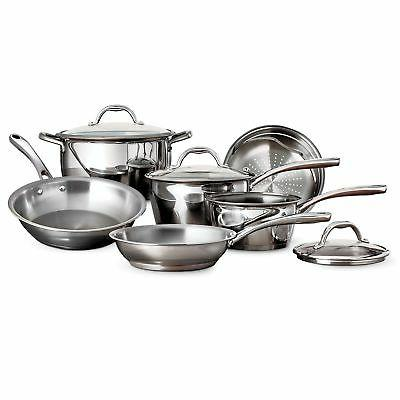 tri ply stainless steel 9 piece cookware