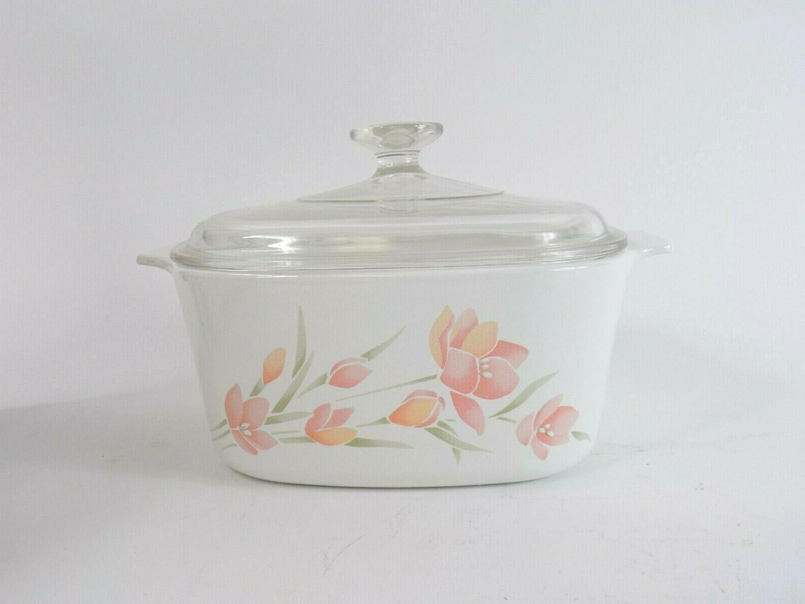 Vintage Corningware 3-qt Casserole Peach