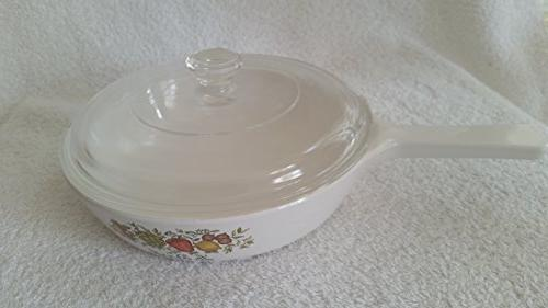 Vintage Corning Ware Le Persil Spice Sauce Pan w/ Pyrex