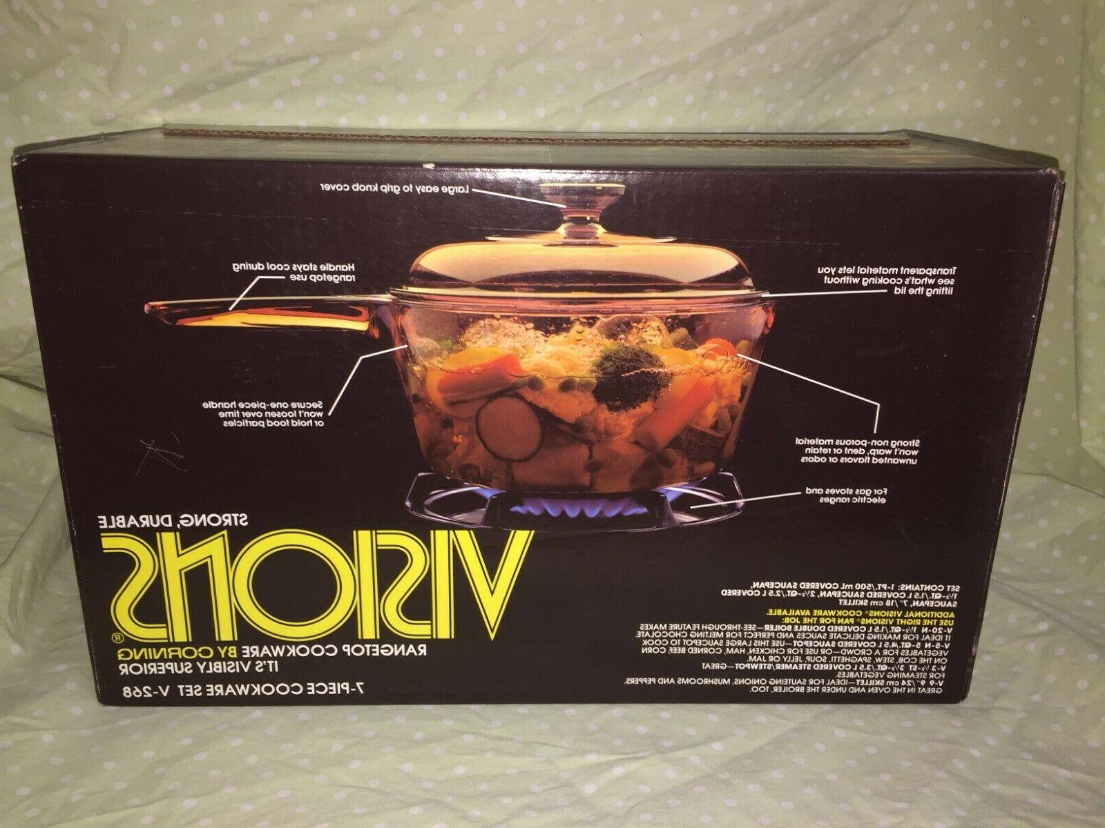 Visions Rangetop 7 Cook's Set NIP 1987