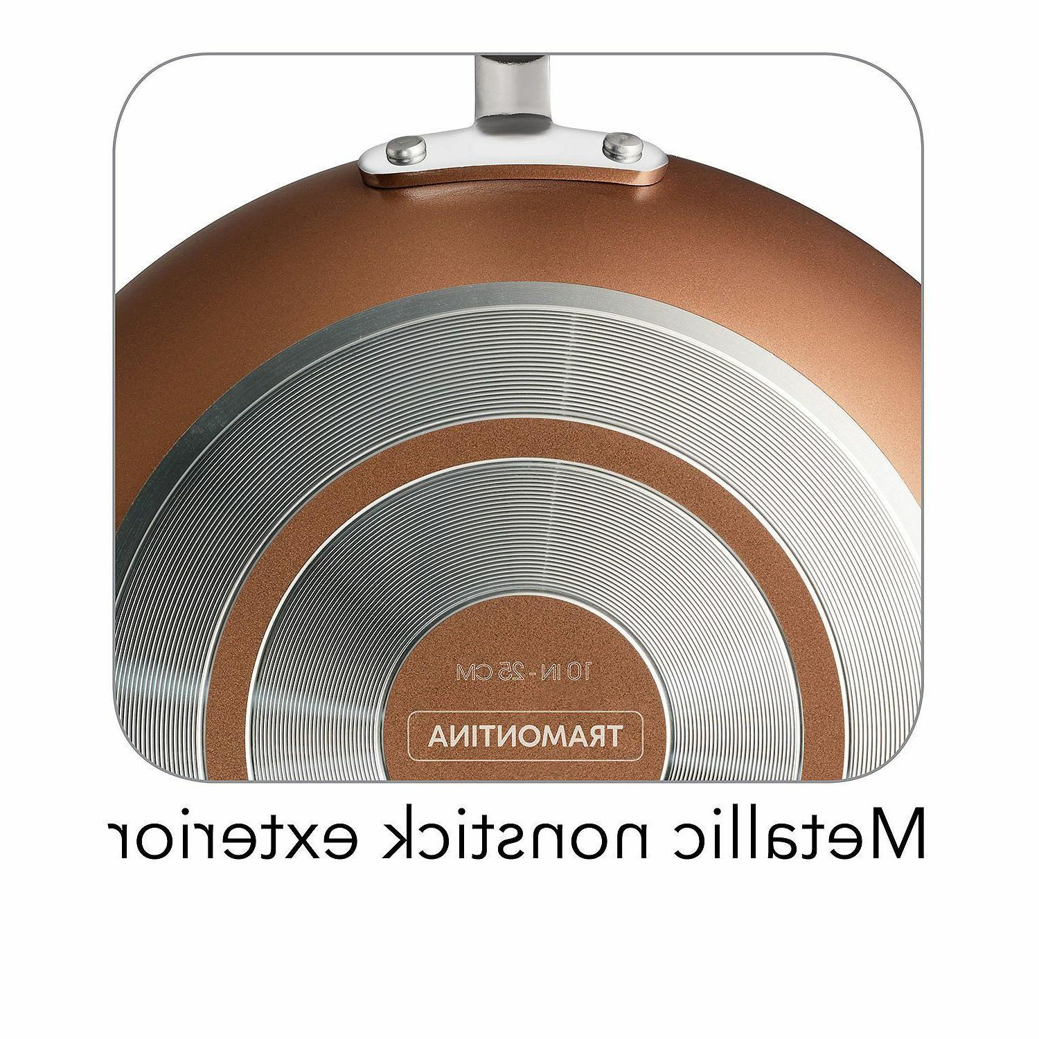 Copper Tramontina Ceramic-Reinforced Nonstick Cookware Set