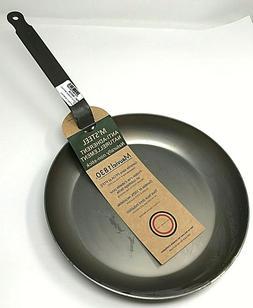Mauviel M'Steel Carbon Steel Round Frying Pan w/ Steel Handl