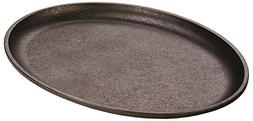 "Lodge LJOSH3 13"" Oval Jumbo Cast Iron Griddle"