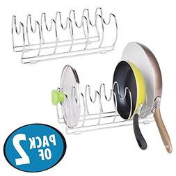 mDesign Pot and Pan Organizer Rack for Kitchen Cabinet, Pant