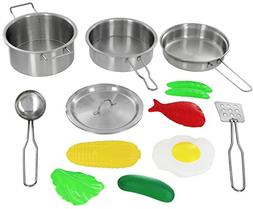 Click N' Play 12 Piece Mini Stainless Steel Pots and Pans Co