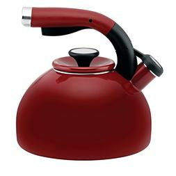 2-qt. Morning Bird Tea Kettle - Color: Red