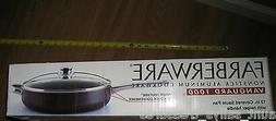 "NEW 12"" Farberware Saute Pan Fry Pan w/LID NONSTICK Large Fr"