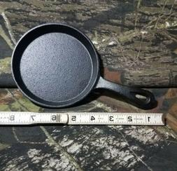 "NEW 5"" Mini Cast Iron Individual Frying Pan For 1 Egg Burger"