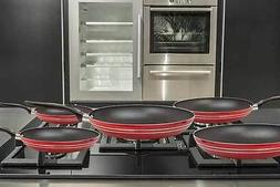 NEW 5 PIECE NON STICK COATING FRYING PAN SET WITH EASY GRIP