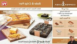 NEW Copper Chef Bake Crisp Pan Set - 4 pc Set - Bake Roast C