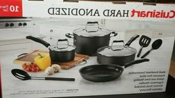 NEW Cuisinart Hard Anodized 10 Piece Cookwear Set, Frying Pa