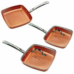 new square fry pan 5 pc set