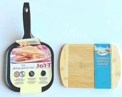 """NEW T-Fal Nonstick Mini-Cheese Griddle Cookware, 6.5"""" Black"""