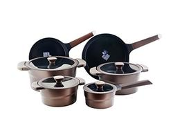 DANIALLI 10-Piece Aluminum Nonstick Cookware Set, Metal Uten