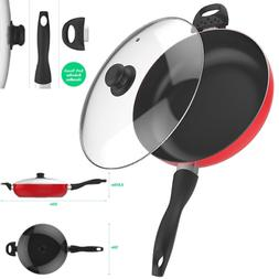 Non Stick Aluminum Skillet With Lid 12 Inch Frying Pan cover