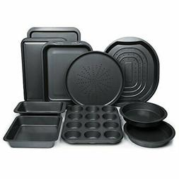 Non-Stick Bakeware Oven Pizza Tray Cake Baking Pans Cookie M