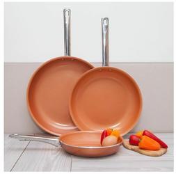 non stick ceramic frying pan copper healthy