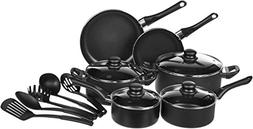 AmazonBasics 15-Piece Non-Stick Cookware Set