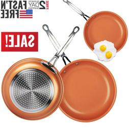 Non-stick Copper Frying Pan Ceramic Coating Induction cookin