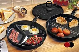 Non-Stick Divider Frying Pans-Black
