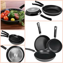 Non Stick Frying Pan Set Cooking Pans Kitchen Cookware 3 Pie