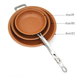 Nonstick Copper Ceramic Coated Induction Cooking Frying Pan