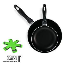 Masthome 2 PCS Nonstick Frying Pan 8 Inch & 10.4 Inch Cookwa
