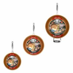 Gotham Steel 3-Piece Nonstick Frying Pan Set – 3 Sizes - 9