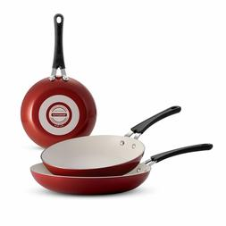 Nonstick Frying Pans Set 3 Skillets Aluminum Teflon Oven Dis