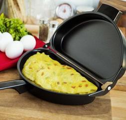Nonstick Omelette Egg Pan Poacher Cookware Stove-Top Kitchen