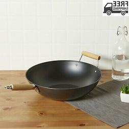 Mainstays 13.75in Ns Wok Nonstick Non Stick Cooking Frying S