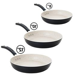 The Ozeri Stone Earth Frying Pan 3 Piece Bundle, with 100% A