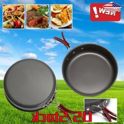 Pan Camping Frying Pan Portable Outdoor Cookware Aluminum No