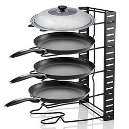 Pan Organizer Rack, 5 Tier Kitchen Saucepan Frying Pan Stand