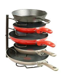 Pan Rack Organizer Kitchen Cabinet Storage Cooking Pot Holde