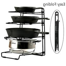 Pans and Pots Rack Lids Holder Detachable Kitchen Cabinet Or