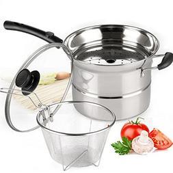 4-piece Pasta Pot Set,Sauran Stainless Steel Durable Sauce P