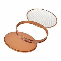 "Copper Chef Perfect rdquo 12"" Crisper Tray Pizza Pan"