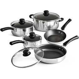 9-Piece Polished Simple Cooking Nonstick Stay-Cool Handles R