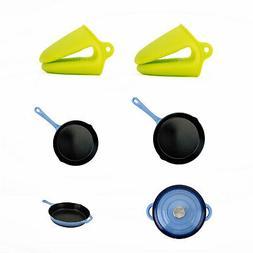 Hamilton Beach Pot Holders + Cast Iron Frying Pan Set + 5.5-