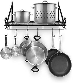 Sorbus Pots and Pan Rack — Decorative Wall Mounted Storage