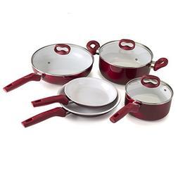 Ecolution pots and pans Bliss 8Piece Non-Stick Cookware Set