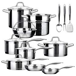 Cookware Set. Best Pots and Pans Non Stick, Stainless Steel
