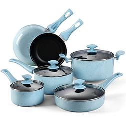 Pots and Pans Set, COOKSMARK Pearl Hard Porcelain Enamel Non