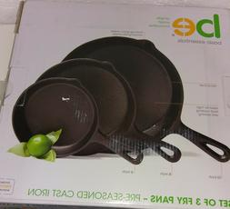 Pre Seasoned Cast Iron Skillet  6 Inches,8 Inches and 10 Inc