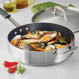 Tramontina Proline 5.5 QT Deep Saute Pan and Lid