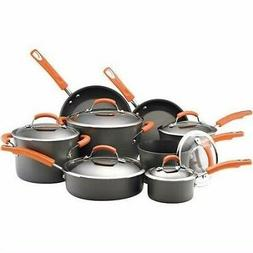 Rachael Ray Dishwasher Safe Hard Anodized 14-Piece Cookware