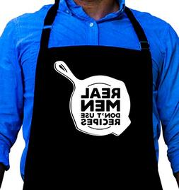 BBQ Grill Apron - Funny Apron For Dad - Real Men Don't Use R